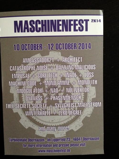 Maschinenfest 2014