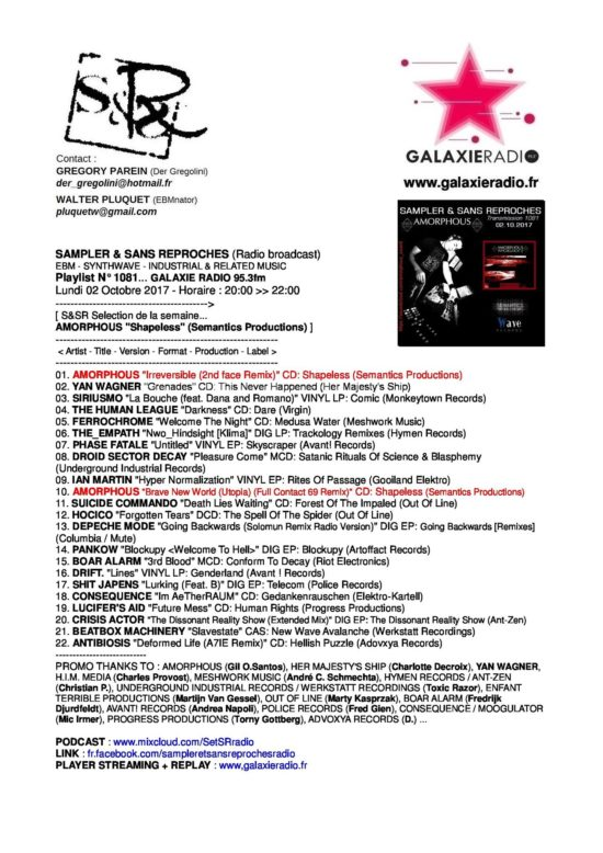 galaxie radio fr - playlist consequence (moogulator)