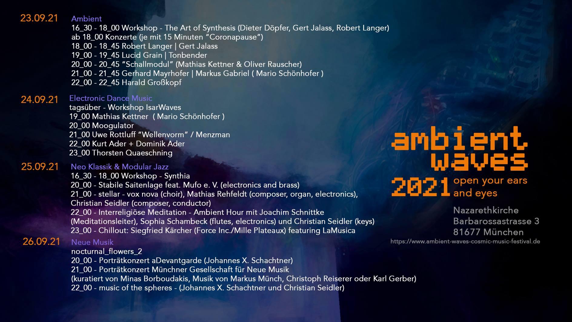 Ambient Waves Festival 2021 - München - 23.-26. September 2021 - Moogulator am Freitag
